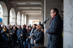 Mahnwache für Opfer in Hanau