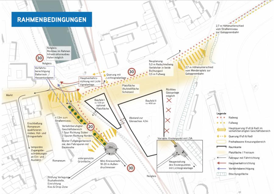 Rahmenbedingungen für die Umgestaltung des. Wenderplatz. in Neuss